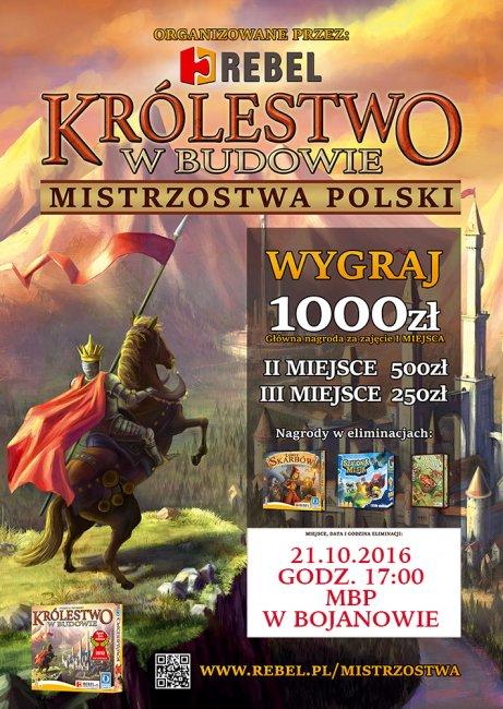 Królestwo wbudowie - eliminacje Mistrzostw Polski wgrach planszowych