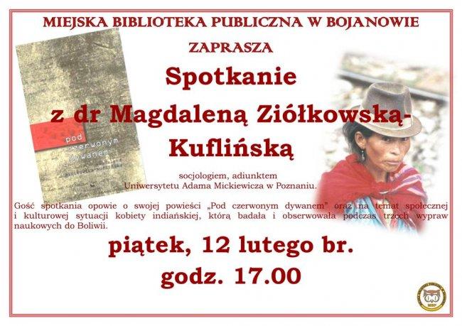 Spotkanie zdr Magdaleną Ziółkowską-Kuflińską