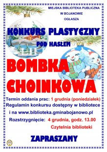 Bombka choinkowa - konkurs